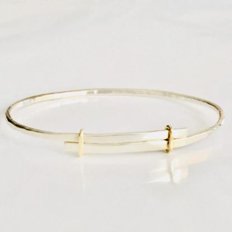 Zilveren armband met gouden lusjes
