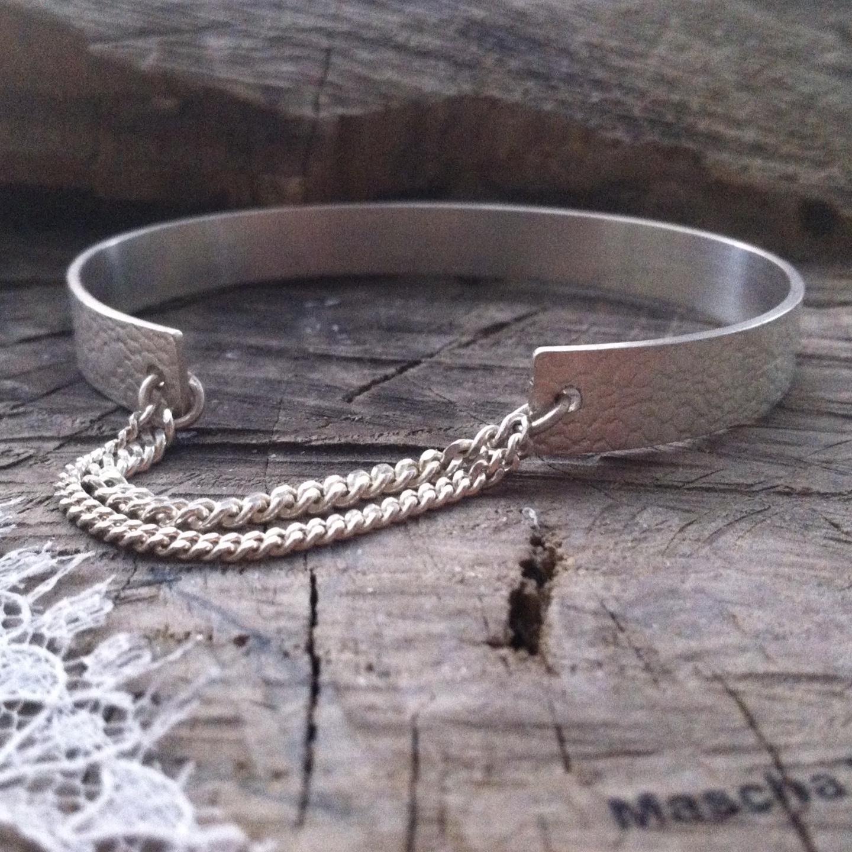 Zilveren armband met ingewalst kant