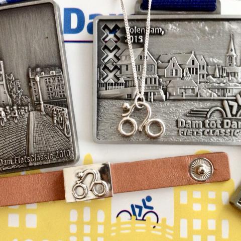 Zilveren fietssieraden